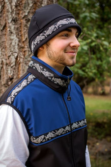 MEN'S KODIAK VEST / (Softshell) / Black, Midnight Blue,  / Salmon-Grey (trim)