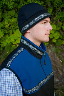 MEN'S KODIAK VEST / (Softshell) / Black, Navy, / Native-Blue (trim)