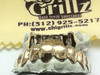 CHIGRILLZ STYLE-Y0505 TOP 8 Cap Goldteeth and 6 BOTTOM Goldteeth Grillz