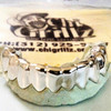 ChiGrillz Real Gold Grillz STYLE-Y0506 10 Cap Goldteeth White Gold Grillz