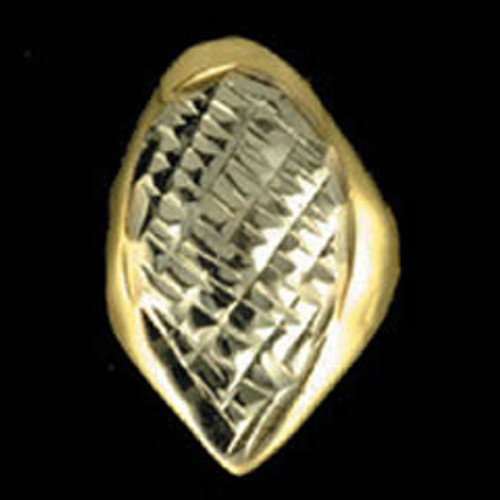 ChiGrillz Single Goldteeth Grillz Style-0117 One Gold slug dental gold tooth cap diamond cut grills w fang