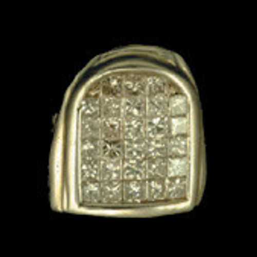 ChiGrillz Diamond Grillz Style-0017 One Icy slug Iced out diamond gold tooth grill cap