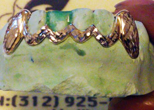 Chigrillz Diamond Cut Grillz Style ys0702 6 cap gumline tracer grillz