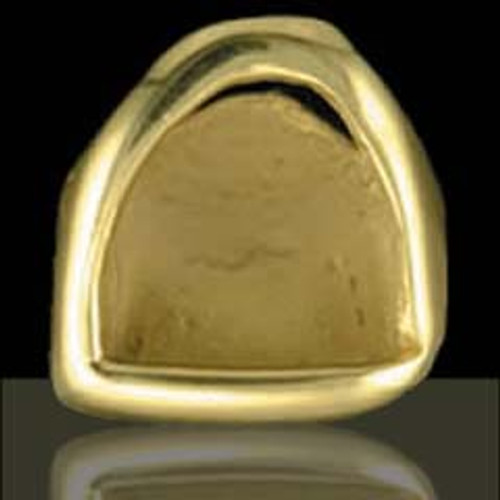 ChiGrillz Open Face Grillz Style-0113 One Gold tooth cap solid gold open face