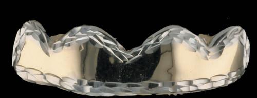 ChiGrillz 4 gold teeth grillz Style-0445 4 cap grillz wall design diamond cut trim