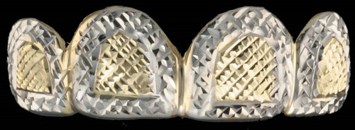 Grillz Style-0501 4 caps Gold with diamond cut design