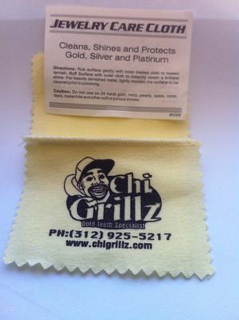ChiGrillz Custom Jewelry Ultra Soft Jewelry Polishing Cloth  Cleans, Shines and Protects Silver, Gold and Platinum Jewelry Non toxic specially formulated for grillz