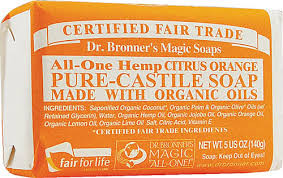 Dr. Bronner's Citrus Orange Bar Soap
