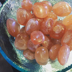 Orange Selenite for cleansing the sacral chakra, flexibility