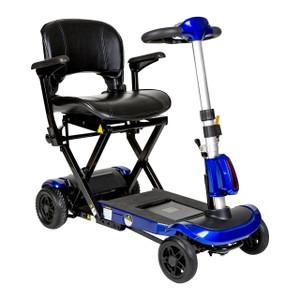 ZooMe Auto-Flex Folding Travel Scooter, Blue