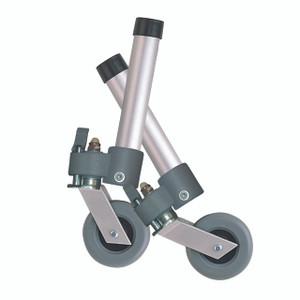 Locking Swivel Walker Wheels with Two Sets of Rear Glides