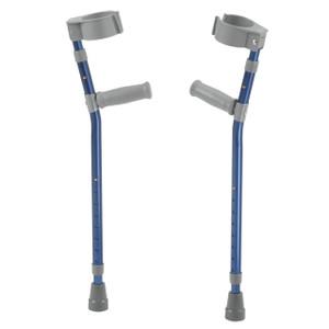 Pediatric Forearm Crutches, Large, Knight Blue, Pair