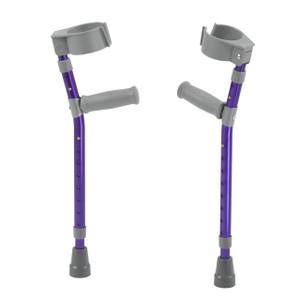 Pediatric Forearm Crutches, Large, Wizard Purple, Pair