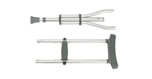 Knock Down Universal Aluminum Crutches, 1 Pair