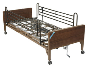 Delta Ultra Light Full Electric Low Hospital Bed with Full Rails