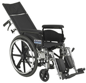 "Viper Plus GT Full Reclining Wheelchair, Detachable Full Arms, 20"" Seat"
