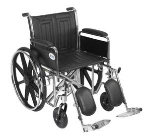 "Sentra EC Heavy Duty Wheelchair, Detachable Full Arms, Elevating Leg Rests, 20"" Seat"