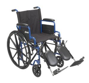 "Blue Streak Wheelchair with Flip Back Desk Arms, Elevating Leg Rests, 16"" Seat"
