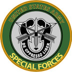 STICKER US ARMY VET SPECIAL FORCES GREEN BERET