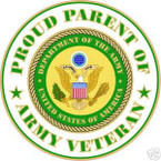 STICKER US ARMY VET PROUD PARENT