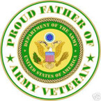 STICKER US ARMY VET PROUD FATHER