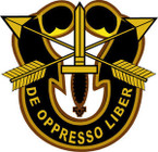 STICKER US ARMY UNIT SPECIAL FORCES GOLD