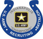 STICKER US ARMY UNIT Indianapolis Recruiting Battalion