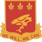 STICKER US ARMY UNIT 907th Glider Field Artillery Battalion CREST