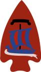 STICKER US ARMY UNIT 74th Regimental Combat Team SHIELD