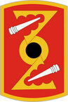 STICKER US ARMY UNIT 72nd Field Artillery Brigade SHIELD