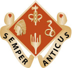 STICKER US ARMY UNIT 70th Field Artillery Brigade CREST