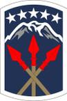 STICKER US ARMY UNIT 593th Sustainment Brigade SHIELD