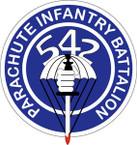STICKER US ARMY UNIT 542nd Parachute Infantry Regiment SHIELD