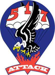 Sticker Us Army Unit 517th Parachute Infantry Regiment
