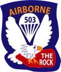 STICKER US ARMY UNIT 503rd Parachute Infantry Regiment SHIELD