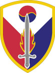 STICKER US ARMY UNIT 411th Support Brigade SHIELD