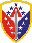 STICKER US ARMY UNIT 410th Support Brigade SHIELD