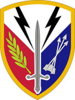 STICKER US ARMY UNIT 405th Support Brigade SHIELD