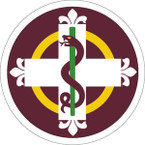 STICKER US ARMY UNIT 338th Medical Brigade SHIELD