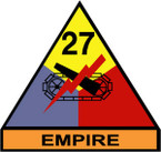 STICKER US ARMY UNIT 27th Armor Div. SHIELD COLOR