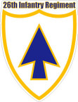 STICKER US ARMY UNIT 26TH INFANTRY REGIMENT SHIELD