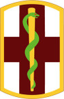 STICKER US ARMY UNIT 1st Medical Brigade SHIELD