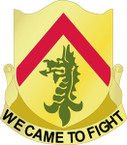 STICKER US ARMY UNIT 198th Armor Regiment CREST