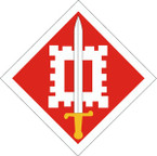 STICKER US ARMY UNIT 18th Engineer Brigade SHIELD
