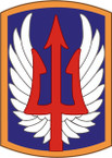 STICKER US ARMY UNIT 185th Aviation Brigade SHIELD