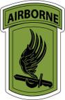 STICKER US ARMY UNIT 173rd Airborne Brigade SUB