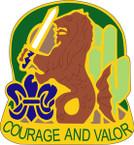STICKER US ARMY UNIT 163rd Armored Brigade CREST