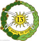 STICKER US ARMY UNIT 13th Armor Regiment NEW