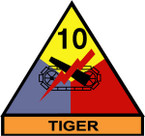 STICKER US ARMY UNIT 10th Armor Div. SHIELD COLOR