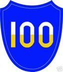 STICKER US ARMY UNIT 100TH INFANTRY DIV SHIELD COL